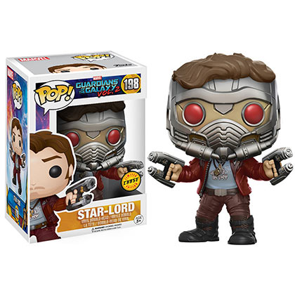 Funko Pop #198 GUARDIANS OF THE GALAXY Star Lord Chase Masked Bobble Head