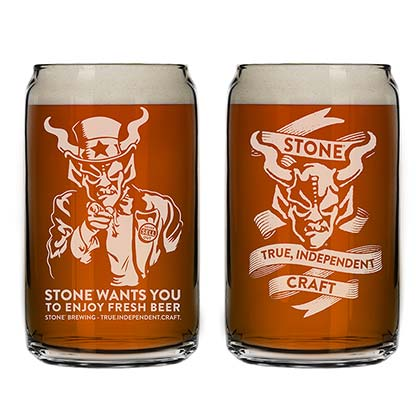 STONE BREWING CO. We Want You Pint Glass