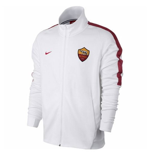 2017 2018 as roma nike authentic franchise jacket white. Black Bedroom Furniture Sets. Home Design Ideas