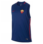 2017-2018 AS Roma Nike Sleeveless Training Shirt (Royal Blue)