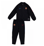 2017-2018 Barcelona Nike Little Boys Tracksuit (Black) - Kids