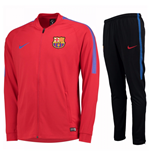 2017-2018 Barcelona Nike Squad Knit Tracksuit (Red) - Kids