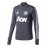 2017-2018 Man Utd Adidas Training Top (Night Grey)