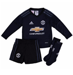 2017-2018 Man Utd Adidas Home Goalkeeper Little Boys Mini Kit
