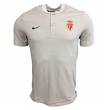 2017-2018 Monaco Nike Authentic Grand Slam Polo Shirt (Platinum)