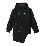 2017-2018 Real Madrid Adidas Mini Presentation Tracksuit (Black) - Infants