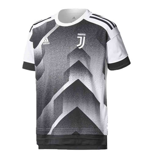 pretty nice 7df1a b1758 2017-2018 Juventus Adidas Pre-Match Training Shirt (Black-White) - Kids