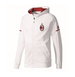 2017-2018 AC Milan Adidas Anthem Jacket (White)