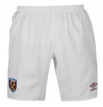 2017-2018 West Ham Home Football Shorts (Kids)