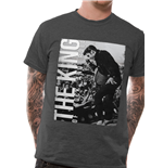 Elvis Presley - The King - Unisex T-shirt Grey