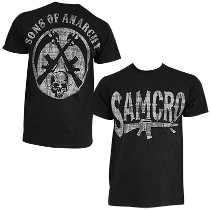 SONS OF ANARCHY Rifle Black Tee Shirt
