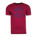 2017-2018 Barcelona Nike Core Crest T-Shirt (Red)