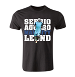 Sergio Aguero Man City Legend T-Shirt (Black) - Kids