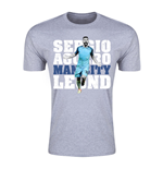 Sergio Aguero Man City Legend T-Shirt (Grey) - Kids