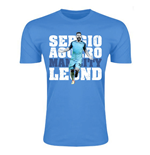 Sergio Aguero Man City Legend T-Shirt (Sky Blue) - Kids