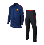 2017-2018 AS Roma Nike Dry Squad Tracksuit (Deep Royal) - Kids
