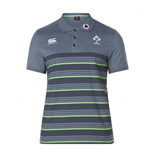 2017-2018 Ireland Rugby Cotton Pique Polo Shirt (Asphalt)