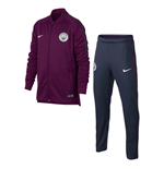 2017-2018 Man City Nike Dry Tracksuit (True Berry) - Kids