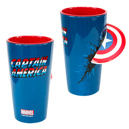 CAPTAIN AMERICA 3D Shield Pint Glass
