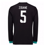 2017-18 Real Madrid Away Long Sleeve Shirt - Kids (Zidane 5)