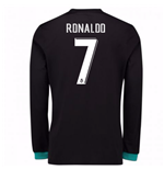 2017-18 Real Madrid Away Long Sleeve Shirt - Kids (Ronaldo 7)