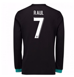 2017-18 Real Madrid Away Long Sleeve Shirt - Kids (Raul 7)