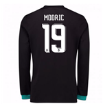 2017-18 Real Madrid Away Long Sleeve Shirt - Kids (Modric 19)