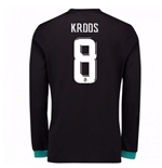 2017-18 Real Madrid Away Long Sleeve Shirt - Kids (Kroos 8)