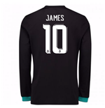 2017-18 Real Madrid Away Long Sleeve Shirt - Kids (James 10)