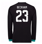 2017-18 Real Madrid Away Long Sleeve Shirt - Kids (Beckham 23)
