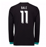 2017-18 Real Madrid Away Long Sleeve Shirt - Kids (Bale 11)