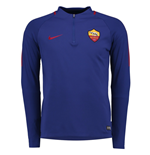2017-2018 AS Roma Nike Training Drill Top (Royal Blue)