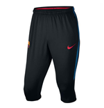 2017-2018 Barcelona Nike Three Quarter Length Pants (Black)