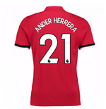 2017-2018 Man United Home Shirt (Ander Herrera 21) - Kids