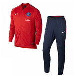 2017-2018 PSG Nike Knit Tracksuit (Red)