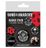 Sons Of Anarchy Pin Badge Pack