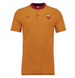 2017-2018 AS Roma Nike Authentic Grand Slam Polo Shirt (Team Crimson)