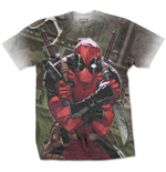 Marvel Comics Mens Tee: Deadpool Cash (Sublimation Print)
