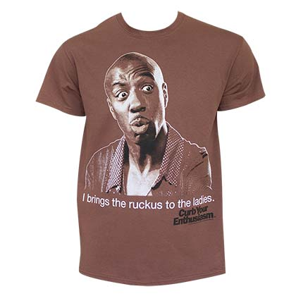 CURB YOUR ENTHUSIASM Bring The Ruckus Brown Tee Shirt