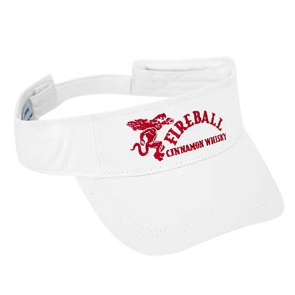 Fireball Full Logo White Visor