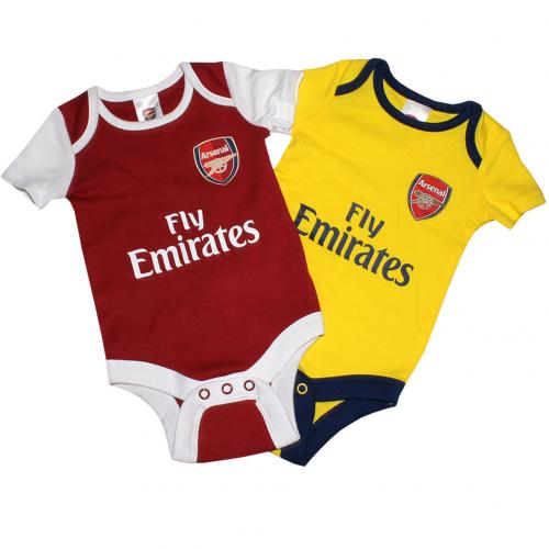 Arsenal F.C. 2 Pack Bodysuit 6/9 mths DR