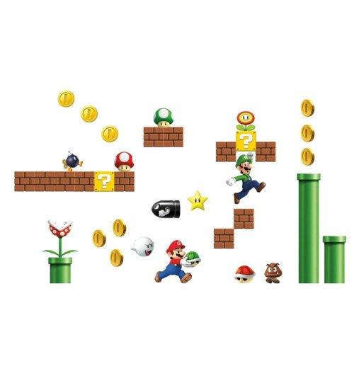 Nintendo giant vinyl wall decal set super mario bros for only c at merchandisingplaza ca - Super mario giant wall decals ...