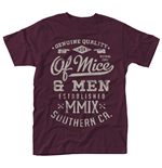 Of Mice And Men T-shirt Genuine (MAROON)
