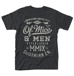 Of Mice And Men T-shirt Genuine (BLACK)