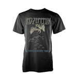 Led Zeppelin T-shirt Over Europe 1980