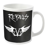 Black Veil Brides Mug Rebels Logo (WHITE)