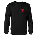 Marvel Deadpool Long Sleeves T-shirt Fade Out Logo