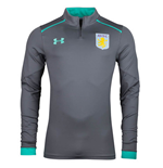 2017-2018 Aston Villa Half Zip Training Top (Graphite)