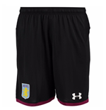 2017-2018 Aston Villa Away Football Shorts (Black) - Kids