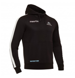 2017-2018 Glasgow Warriors Rugby Heavy Cotton Hoody (Black)